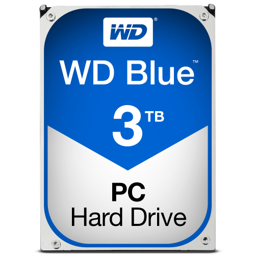 WD Blue 3TB SATA 6Gb s HDD internal 3,5inch serial ATA 64MB cache IntelliPower RoHS compliant Bulk