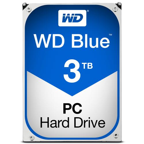 WD Blue 3TB SATA 6Gb s HDD internal 3,5inch serial ATA 64MB cache IntelliPower RoHS compliant Bulk