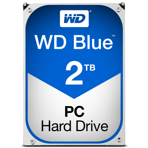 WD Blue 2TB SATA 6Gb s HDD internal 3,5inch serial ATA 64MB cache IntelliPower RoHS compliant Bulk