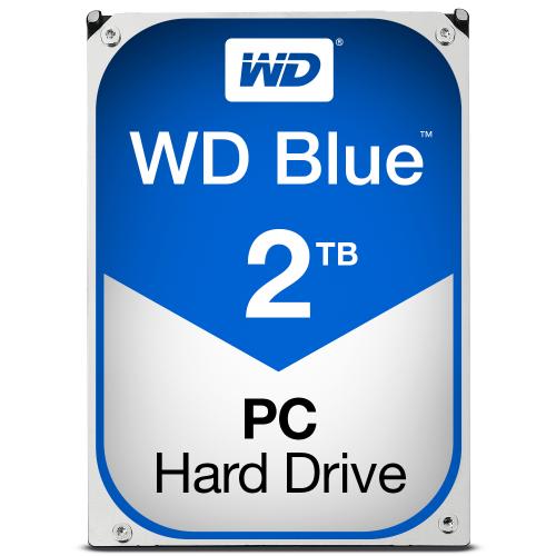 WD Blue 2TB SATA 6Gb s HDD internal 3,5inch serial ATA 64MB cache IntelliPower RoHS compliant Bulk