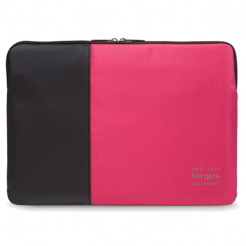 TARGUS Pulse 14in Laptop Sleeve Black and Pink