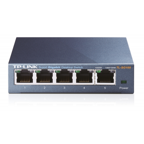 TP-LINK 5-PORT METAL GIGABIT SWITCH 5 10 100 1000M RJ45 PORTS SUPPORTS GMP SNOOPING IEEE 802.1P QOS