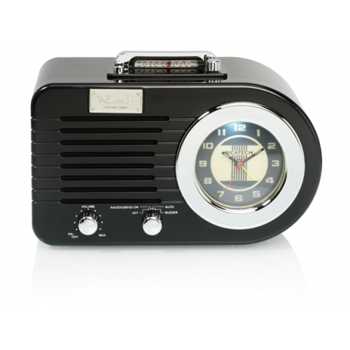 Ricatech PR220 Nostalgic Radio Black