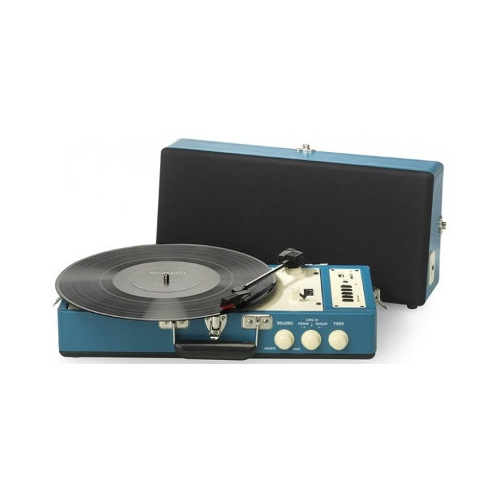Ricatech Vintage Turntable Blue