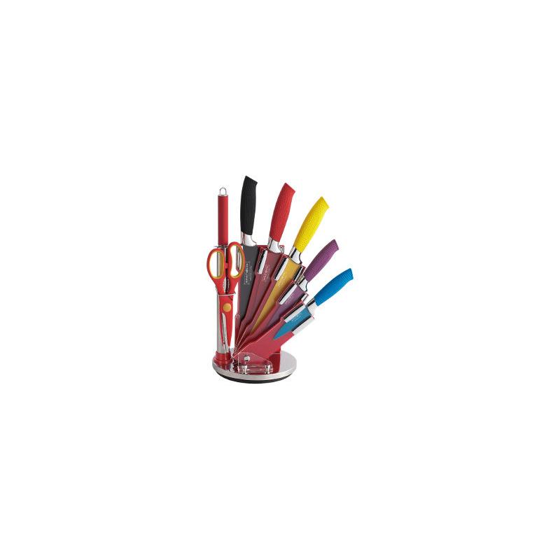 Royalty Line Keittiöveitsisarja 7 kpl + Teline Värillinen