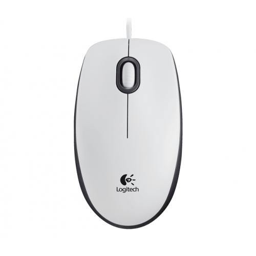 LOGITECH M100 Mouse White USB