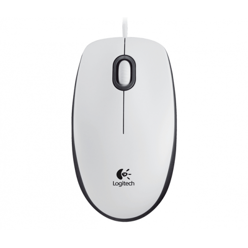 LOGITECH M100 Mouse White USB