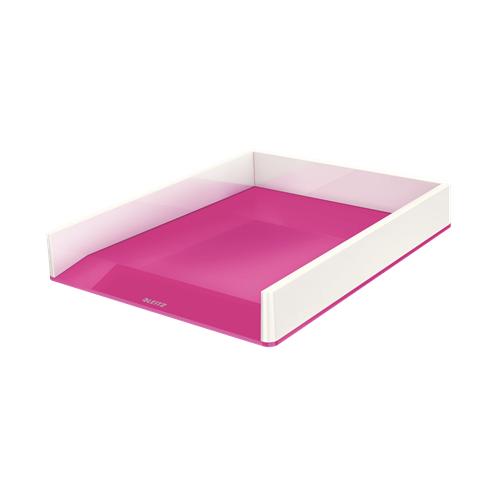 LEITZ lomakelaatikko wow dual väri metalli helmenvalkoinen/pinkki (4kpl/ltk)