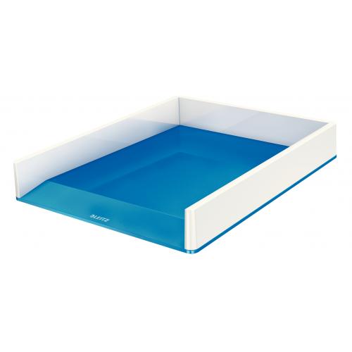LEITZ lomakelaatikko wow dual väri metalli helmenvalkoinen/sininen (4kpl/ltk)
