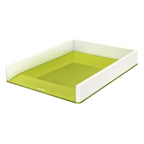 LEITZ lomakelaatikko wow dual väri metalli helmenvalkoinen/vihreä (4kpl/ltk)