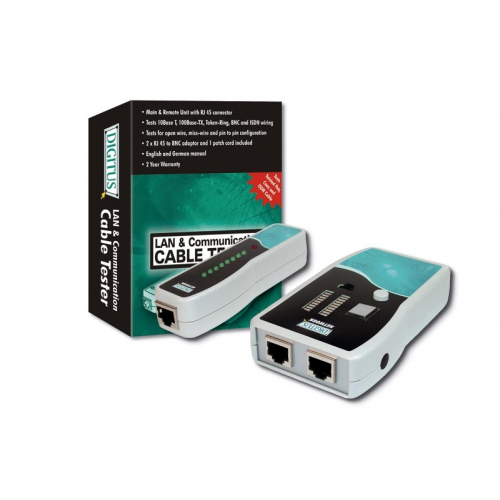 Digitus DN-14001 RJ45/BNC Network Cable Tester