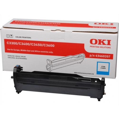OKI C3300/3400 Rumpu Cyan, 15K, 43460207 (C3400, C3450, C3600)