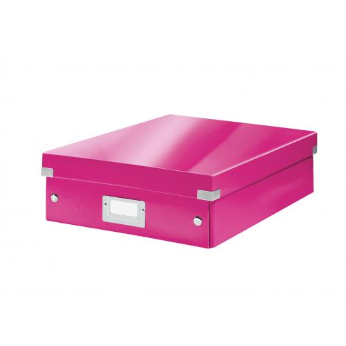LEITZ Click Store lokerikkolaatikko pinkki ″M″