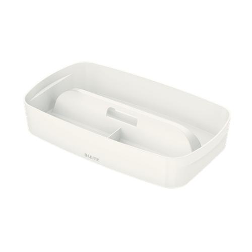 LEITZ MyBox S säilytyslokerikko kahvalla valkoinen/harmaa