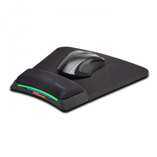 KENSINGTON Smartfit hiirimatto geelirannetuki korkeussäädettävä musta