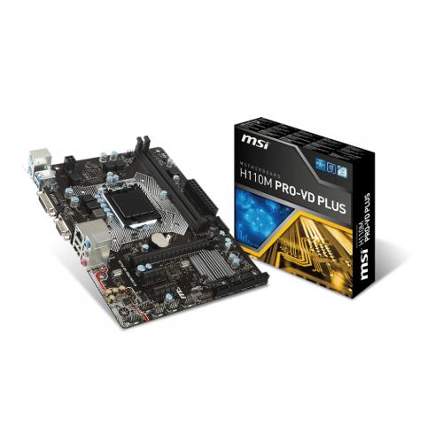 MSI H110M PRO-VD PLUS mATX Motherboard