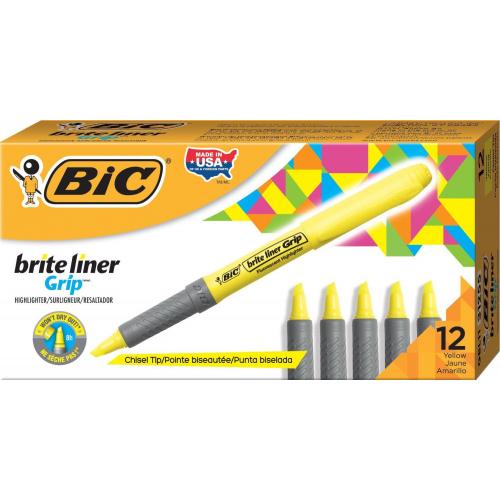 Bic Brite Liner keltainen korostuskynä kynämallinen