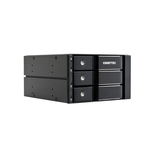 Chieftec 2 x 5.25 bays for 3 SAS SATA HDDs trayless