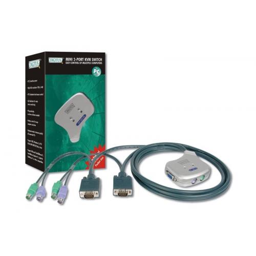 Digitus DC OC12 Mini KVM Switch 1User, 2Pcs, PS 2