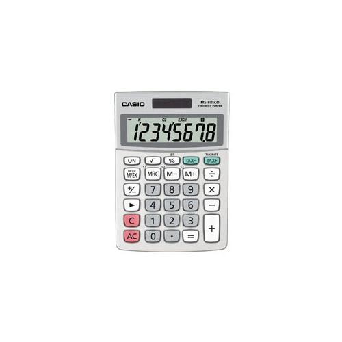 CASIO MS-88 ECO pöytälaskin 8-numeroinen