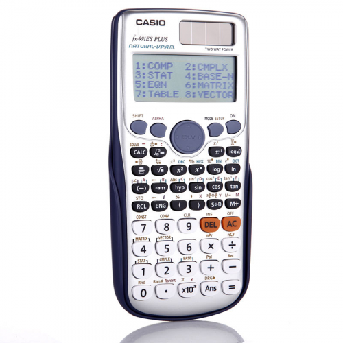 CASIO FX-991 ES PLUS funktiolaskin, Natural Textbook Display ja kaksirivinen