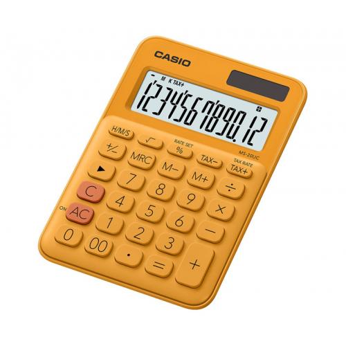 CASIO MS-20UC-RG pöytälaskin 12-numeroinen oranssi
