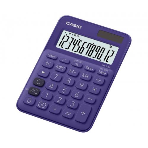 CASIO MS-20UC-PL pöytälaskin 12-numeroinen violetti