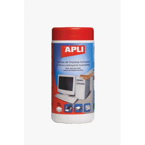 APLI puhdistusliina antistaattinen muovi-/metallipinnoille 100kpl/prk