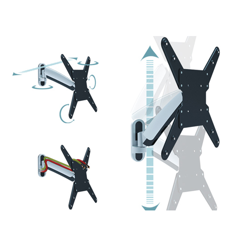 Wallmount for 19-50 VESA 100-400 (Distance: 55 to 360 mm, Horizontal +/-90°, Vertical +/-15°)