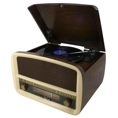 Soundmaster NR-518 Nostalgic Music Centre with USB encoding (LP, CD MP3, USB, Radio)