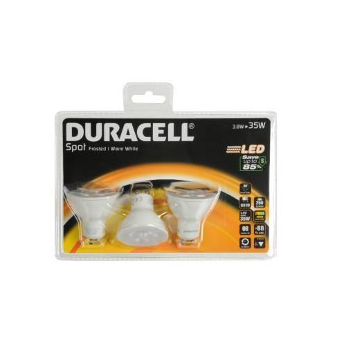 Duracell GU10 3.8W Halogen Spot Lamp 250lm (3pcs)