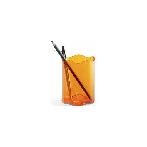 DURABLE Trend kynäpurkki läpinäkyvä oranssi