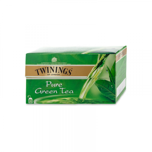 TWININGS pure green vihreä tee 25pss/pkt