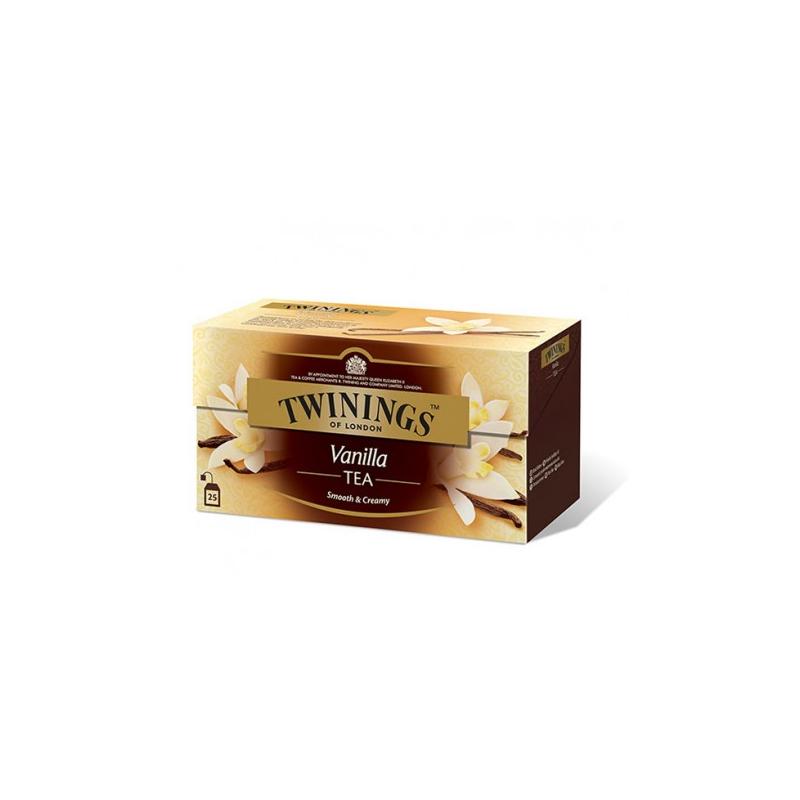 Twinings Vanilla tee 25pss/pkt (12pkt/ltk)