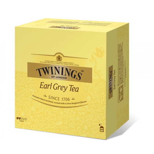 Twinings tee, Earl Grey 100ps/200g (4pkt/ltk)