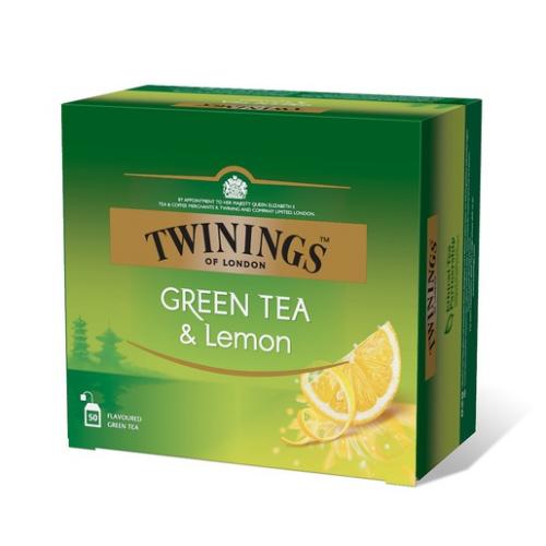Twinings tee, vihreä tee ja sitruuna, 50kpl/pkt (10pkt/ltk)