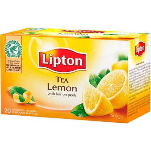 Lipton tee sitruuna 20pss/pkt (12pkt/ltk)
