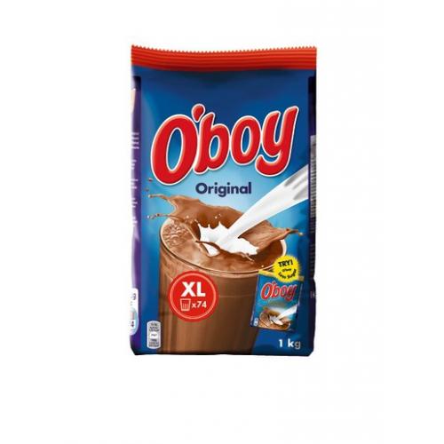 Oboy 1kg refil kaakaojuomajauhe (10kpl/ltk)