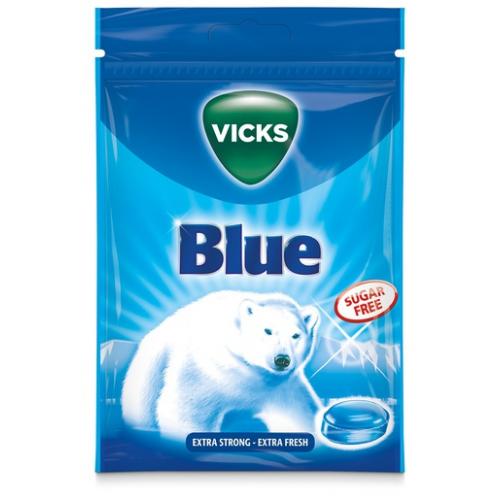 VICKS Blue sokeriton kurkkupastilli 72g/pss