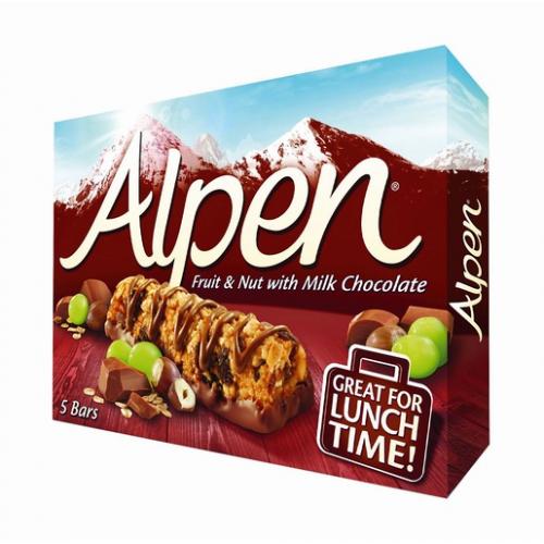 Alpen 5x29g pähkinä suklaa myslipatukka (10pkt/ltk)