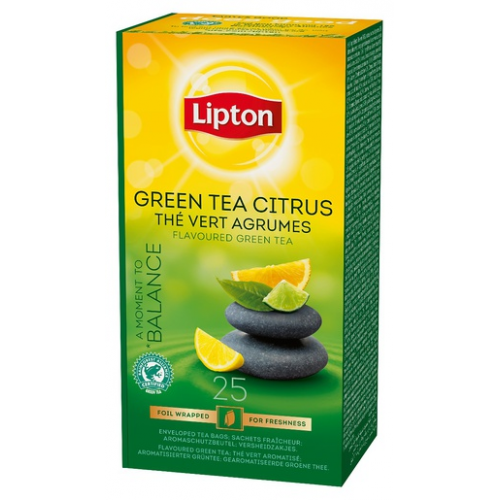 LIPTON 1,3gx25pss Green tea citrus Horeca