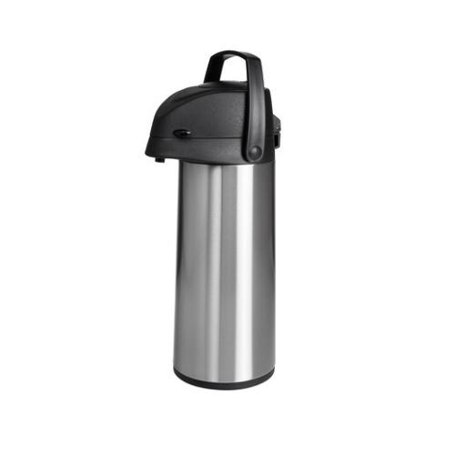 Heirol pumpputermos 1.9 litraa, teräs kuori, lasinen sisus, tuplavakuumi