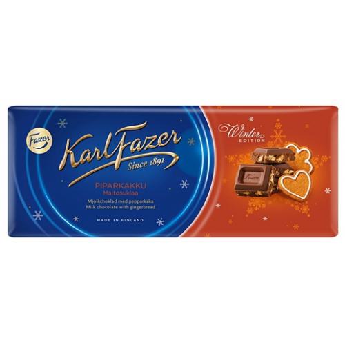 Karl Fazer Winter Edition 200g piparkakku maitosuklaalevy