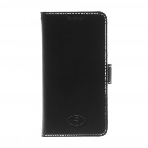 Insmat Exclusive - Läppäkansi matkapuhelimelle - aito nahka - musta malleihin Microsoft Lumia 650