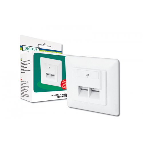 Digitus DN-9005-N CAT6 Wall Outlet Flush Mount (Shielded)