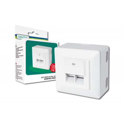 Digitus DN-9006-N CAT6 Modular Wall Outlet (Shielded)