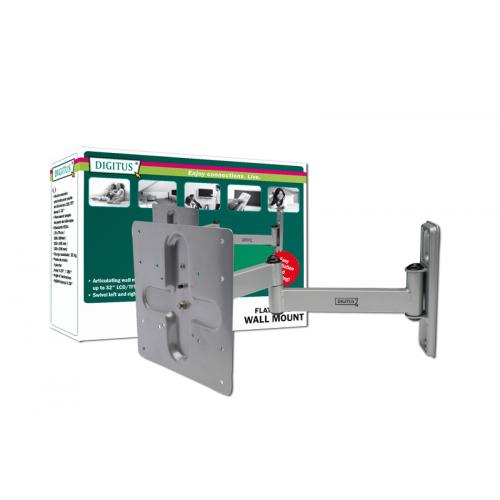 Digitus LCD TV Wall Mount Kit for up to 32 VESA 75/100/200 (Tilt: 20° upwards / 20° downwards / 180