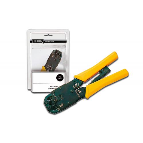 Digitus DN-94004 Multi Modular Crimping Tool Solid Metal for RJ45 RJ12 RJ11