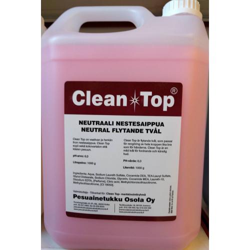 CLEAN TOP Neutraali nestesaippua 5 l