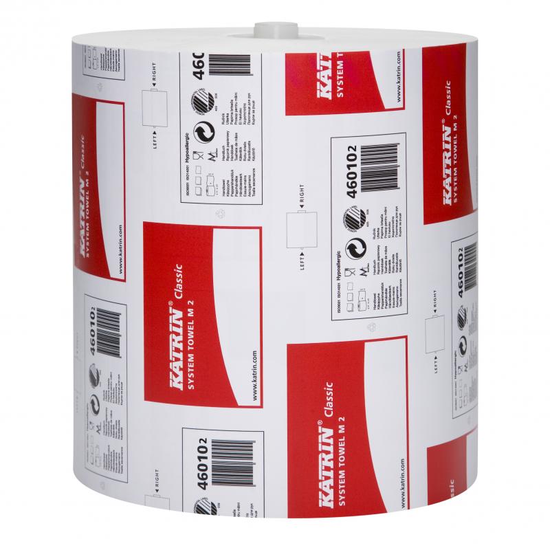 Katrin Classic System Towel M2, 2-kertainen, valkoinen 160m rulla, n. 700 arkkia rulla 6rll ltk (36